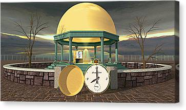 Prime Time Shrine Canvas Print by Peter J Sucy
