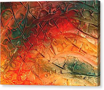 Primitive Abstract 1 By Rafi Talby Canvas Print by Rafi Talby