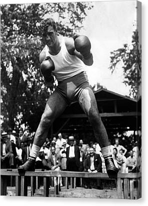 Primo Carnera At His Training Camp Canvas Print by Everett