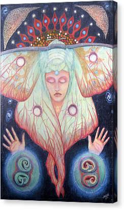 Primordial Cell Dream Canvas Print by Janelle Schneider
