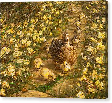 Canvas Print featuring the painting Primrose Path Il by Doug Kreuger