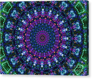 Primrose Sister Mandala Canvas Print