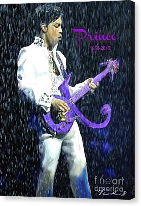 Prince 1958 - 2016 Canvas Print by Vannetta Ferguson
