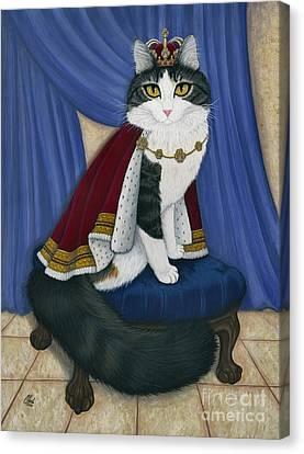 Prince Anakin The Two Legged Cat - Regal Royal Cat Canvas Print