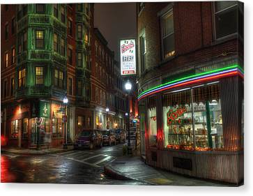 Prince And Salem - North End Boston Canvas Print by Joann Vitali
