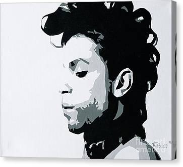 Canvas Print featuring the painting Prince by Ashley Price