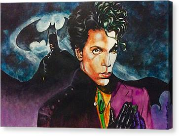 Canvas Print featuring the painting  Prince Batdance by Darryl Matthews