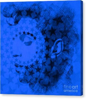 Prince Blue Pop Art Pur Canvas Print