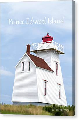 Prince Edward Island Lighthouse Poster Canvas Print