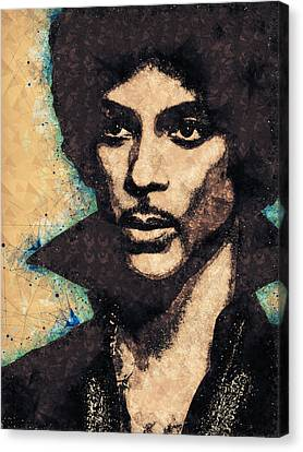 Pop Culture Canvas Print - Prince Illustration by Studio Grafiikka