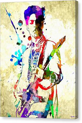 Prince In Concert Canvas Print
