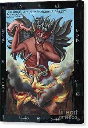 Prince Of Darkness, 18th Century Canvas Print