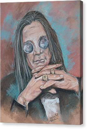 Prince Of Darkness Canvas Print by Sandra Valentini