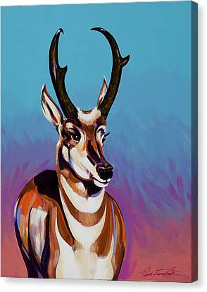 Canvas Print featuring the painting Prince Of The Prairies by Bob Coonts