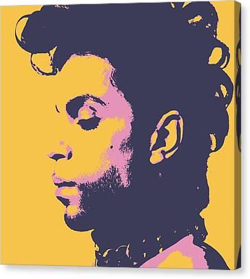 Singing Canvas Print - Prince Pop Art by Dan Sproul