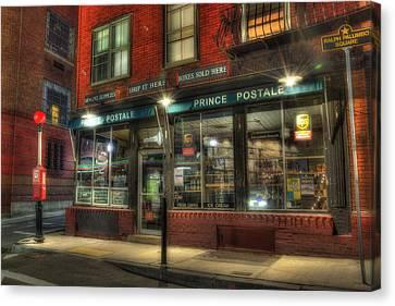 Prince Postale - Prince Street - North End - Boston Canvas Print by Joann Vitali