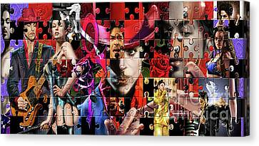 Prince Puzzle Of Missing Pieces 1 Canvas Print by Reggie Duffie