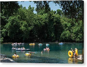 Prince Solms Park On The Comal River In New Braunfels Canvas Print