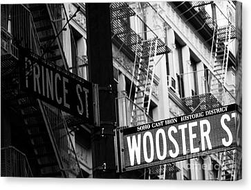 Prince St Wooster St Canvas Print