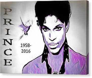 Prince Tribute Canvas Print by Dan Sproul
