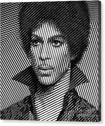 Prince - Tribute In Black And White Sketch Canvas Print