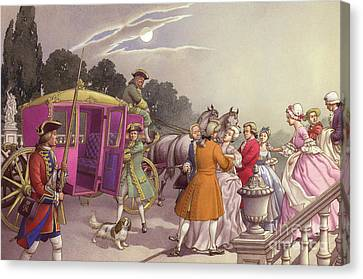 Princess Augusta, About To Give Birth, Was Bundled Into A Coach Canvas Print