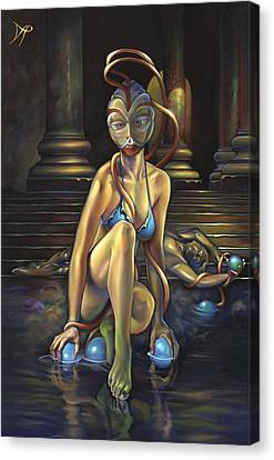 Princess Dejah Thoris Of Helium Canvas Print by Patrick Anthony Pierson