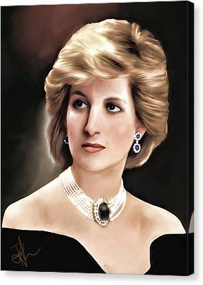 Princess Diana Canvas Print by Pennie  McCracken