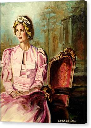 Gold Star Mother Canvas Print - Princess Diana The Peoples Princess by Carole Spandau