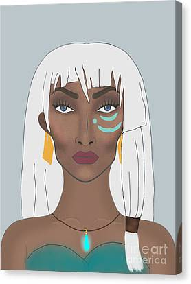Princess Kidagakash  Canvas Print by Tyeshia Williams