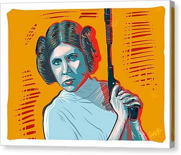Canvas Print featuring the digital art Princess Leia by Antonio Romero
