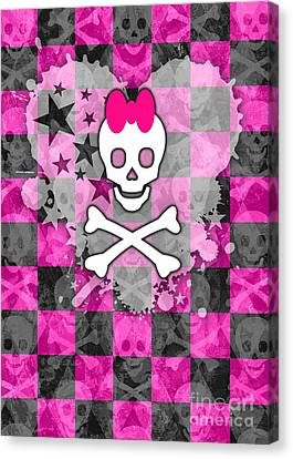 Princess Skull Canvas Print