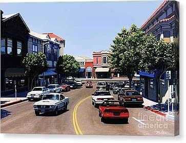 Princess Street Sausalito Canvas Print by Frank Dalton
