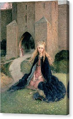 Princess With A Spindle Canvas Print by Hanna Pauli