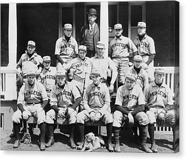 Baseball Card Canvas Print - Princeton Baseball Team by American School