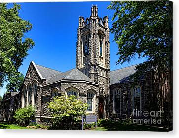 Princeton United Methodist Church    Canvas Print by Olivier Le Queinec