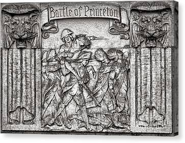 Princeton University Battle Commemorative Plaque Canvas Print by Olivier Le Queinec