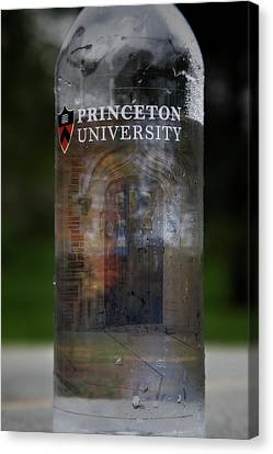 Princeton University Bottled Water Canvas Print by Susan Candelario