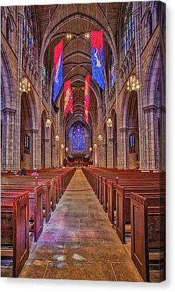 Canvas Print featuring the photograph Princeton University Chapel by Susan Candelario