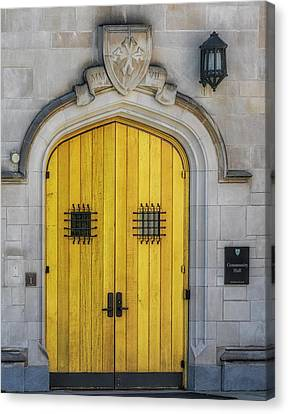 Princeton University Community Hall Door Canvas Print by Susan Candelario