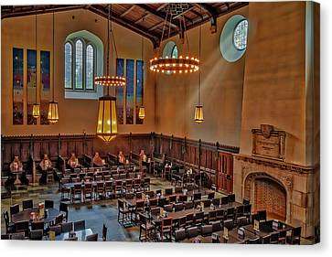 Princeton University Community Hall Canvas Print by Susan Candelario