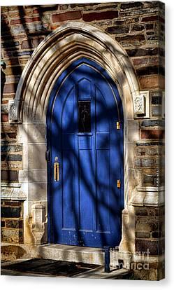 Princeton University Dorm Building Door Canvas Print