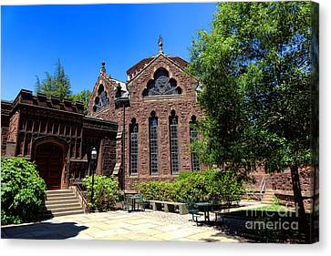 Princeton University East Pyne Hall Chancellor Green Library  Canvas Print by Olivier Le Queinec