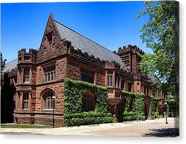 Princeton University East Pyne Hall South East Corner Canvas Print by Olivier Le Queinec