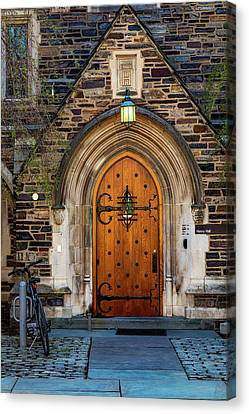 Canvas Print featuring the photograph Princeton University Henry Hall by Susan Candelario