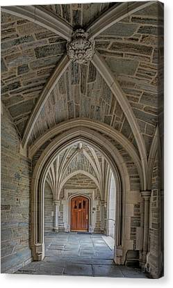 Canvas Print featuring the photograph Princeton University Holder Hall Arches by Susan Candelario