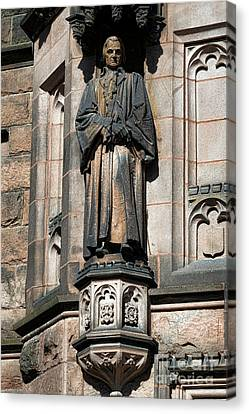 Princeton University J Witherspoon Statue  Canvas Print by Olivier Le Queinec