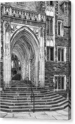 Canvas Print featuring the photograph Princeton University Lockhart Hall Dorms Bw by Susan Candelario