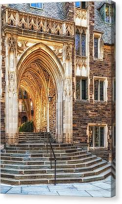 Canvas Print featuring the photograph Princeton University Lockhart Hall Dorms by Susan Candelario