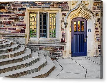 Canvas Print featuring the photograph Princeton University Lockhart Hall by Susan Candelario